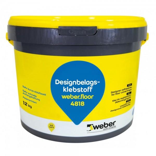 weber.floor 4818 Designbelagsstaoff Faserarmierter Dispersionsklebstoff für PVC-Designbeläge (LVT)
