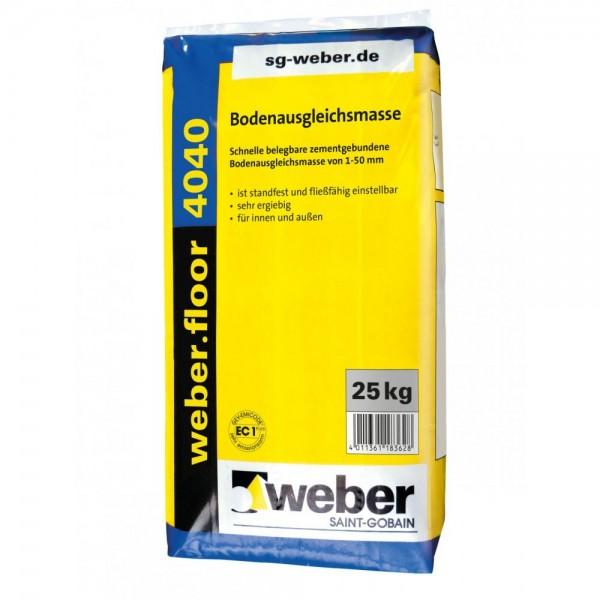 weber.floor 4040 Bodenausgleichsmasse Schnelle belegbare zementgebundene Bodenausgleichsmasse von 1-