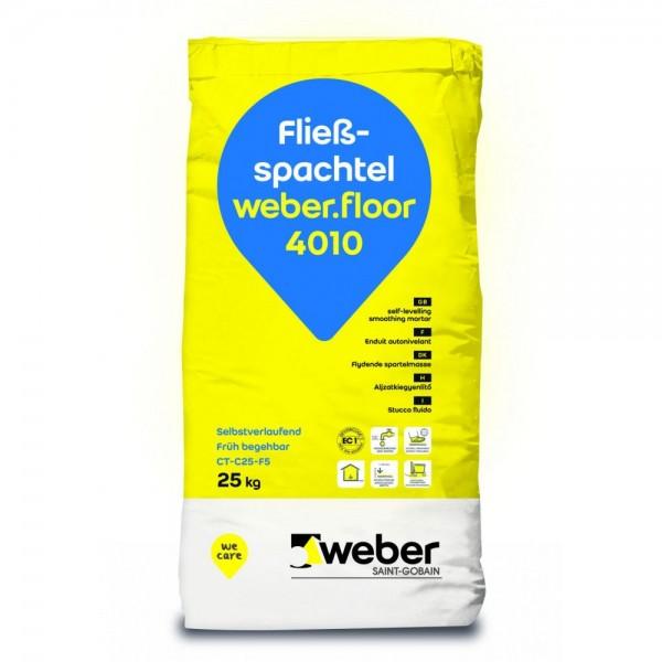 weber.floor 4010 Fließspachtel Zementgebundene Fließspachtelmasse von 1-10 mm Foliensack