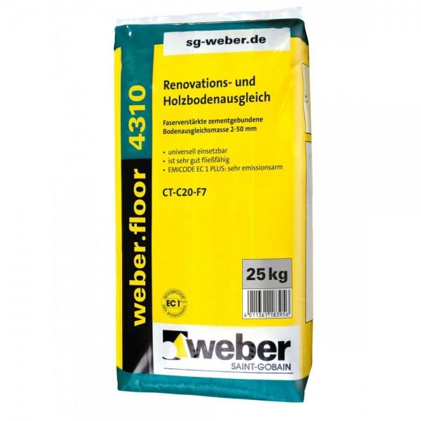 weber.floor 4310 Renovation- und Holzbodenausgleich Faserverstärkte zementgebundene Bodenausgleichsm