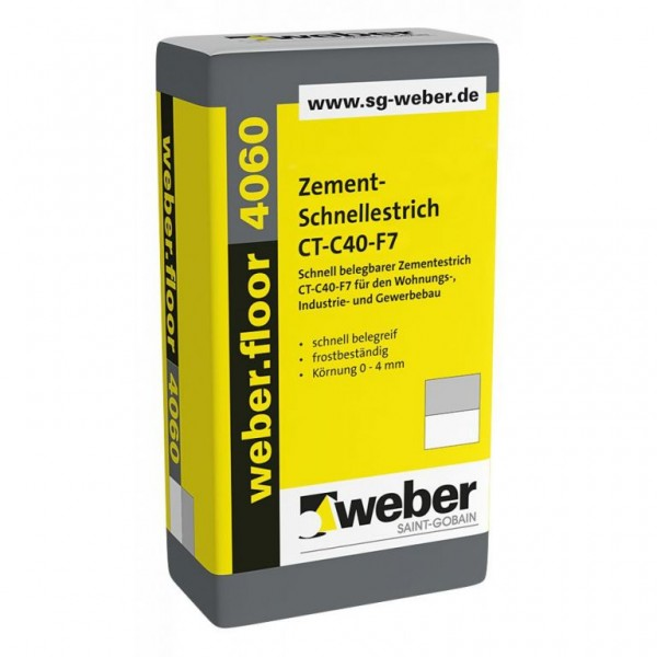 weber.floor 4060 Schnell belegbarer Zementestrich