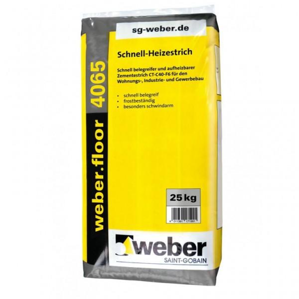 weber.floor 4065 Schnell belegreifer und aufheizbarer Zementestrich
