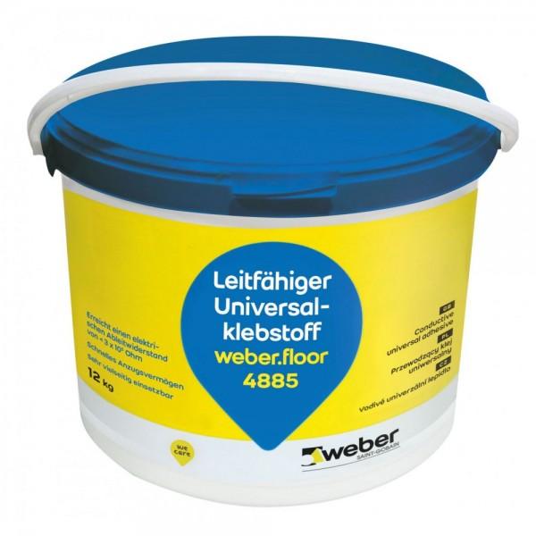 weber.floor 4885 Leitfähiger faserarmierter universeller Nassbettklebstoff für textile und elastisch