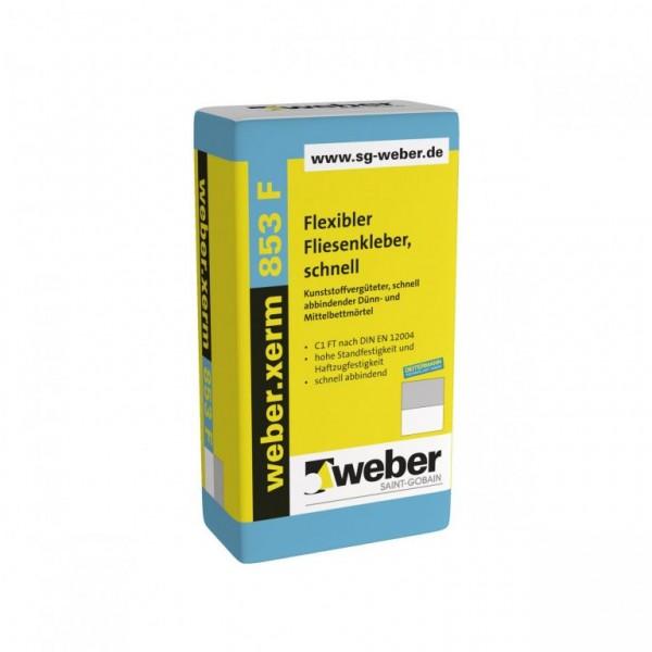 weber.xerm 853 F Kunststoffvergüteter, schnell abbindender Dünn- und Mittelbettmörtel emissionsarm