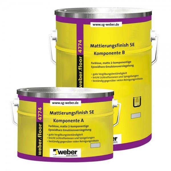 weber.floor 4774 Mattierungsfinish SE Farblose, matte 2-Komponenten- Epoxidharz-Emulsionsversiegelun
