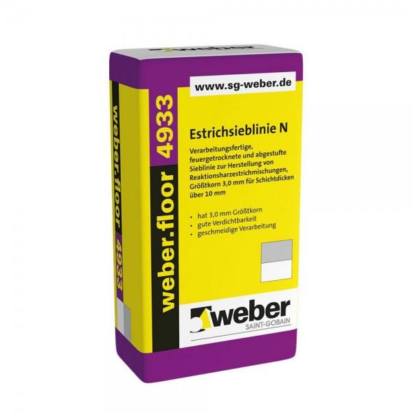 weber.floor 4933 Estrichsieblinie N Verarbeitungsfertige, feuergetrocknete und abgestufte Sieblinie