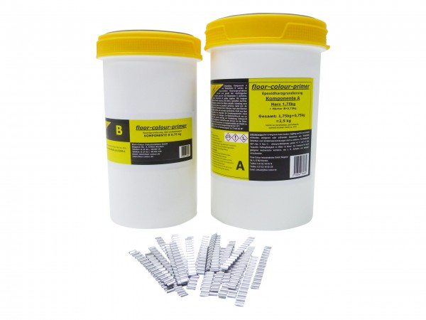 floor-colour-primer Riss-Set 2,5 kg inkl. 50 Wellenverbinder