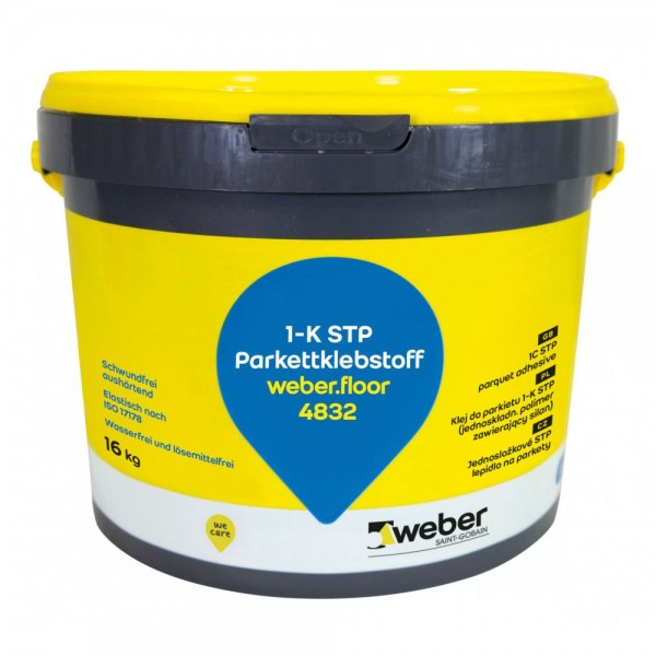 weber.floor 4832 Elastischer einkomponentiger STP-Klebstoff für Parkett