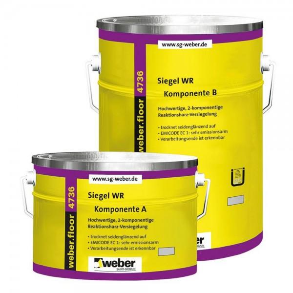 weber.floor 4736 FG 1 Standart Hochwertige, 2 - komponentige, farbige Reaktionsharz-Versiegelung