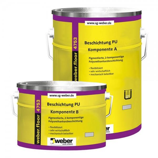 weber.floor 4753 Beschichtung PU standard Pigmentierte 2 - komponentige Polyurethanharzbeschichtung