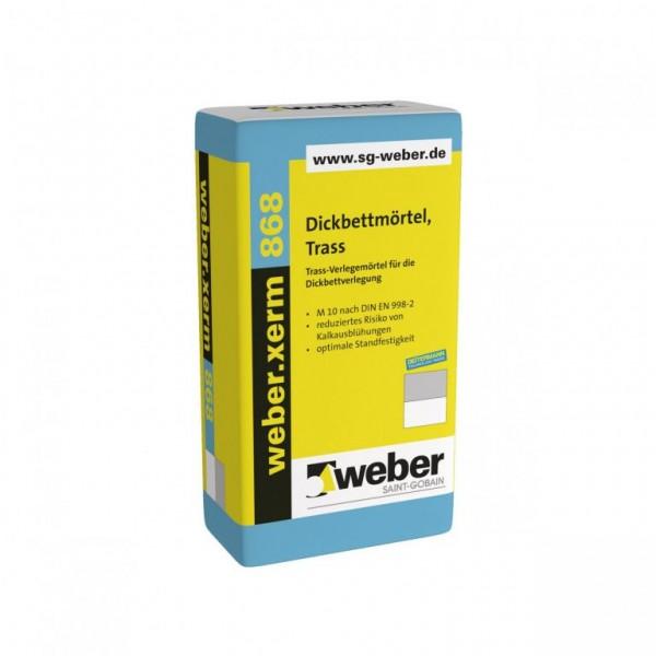 weber.xerm 868 Trass-Verlegemörtel für die Dickbettverlegung mineralisch