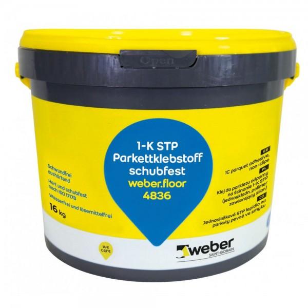weber.floor 4836 Harter und schubfester einkomponentiger STP-Klebstoff für Parkett