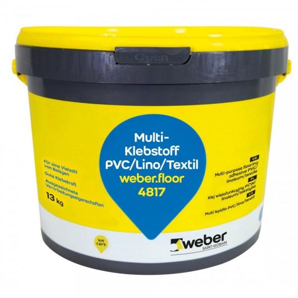 weber.floor 4817 Multi- Klebstoff Nassbettklebstoff für PVC-Beläge in Bahnen, CV-, Textil- und Linol