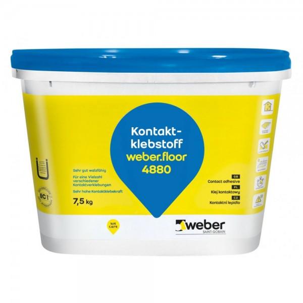 weber.floor 4880 Lösemittelfreier Kontaktklebstoff für eine Vielzahl von Materialien