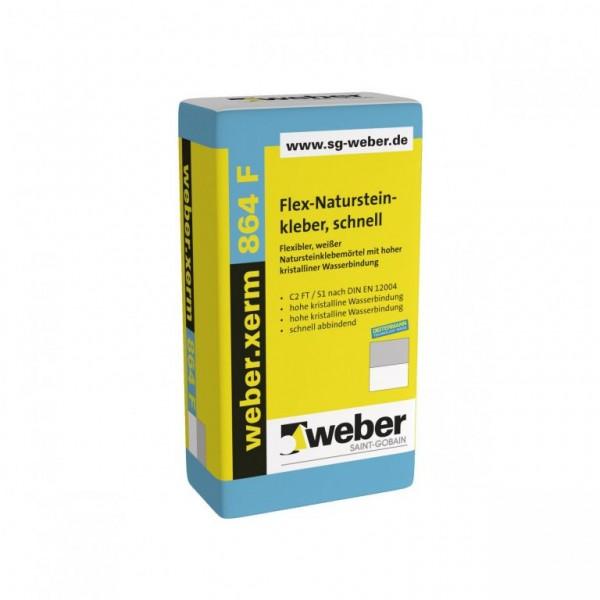 weber.xerm 864 F Flexibler, weißer Natursteinklebemörtel mit hoher kristalliner Wasserbindung