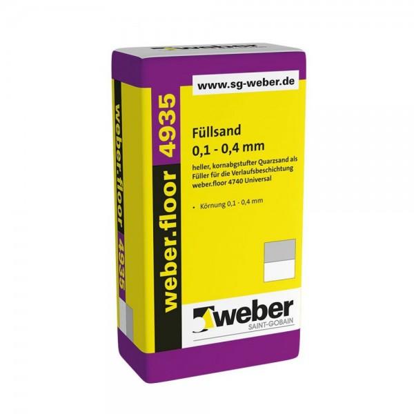 weber.floor 4935 Füllsand heller, kornabgestufter Quarzsand als Füller für die Verlaufsbeschichtung