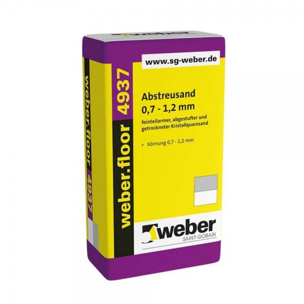 weber.floor 4937 Abstreusand 0,7-1,2 mm feinteilarmer, abgestufter und getrockneter Kristallquarzsa