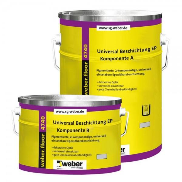 weber.floor 4740 FG1 standard Universal Beschichtung Pigmentierte, 2 - komponentige, universell eins