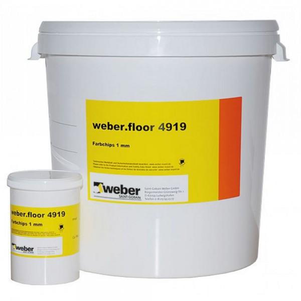 weber.floor 4919 Farbige Chips zur dekorativen Gestaltung von Reaktionsharzbodenbeschichtungen