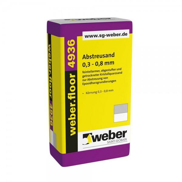 weber.floor 4936 Abstreusand 0,3-0,8 mm feinteilarmer, abgestufter und getrockneter Kristallquarzsa